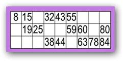 loto bingo 90 boules